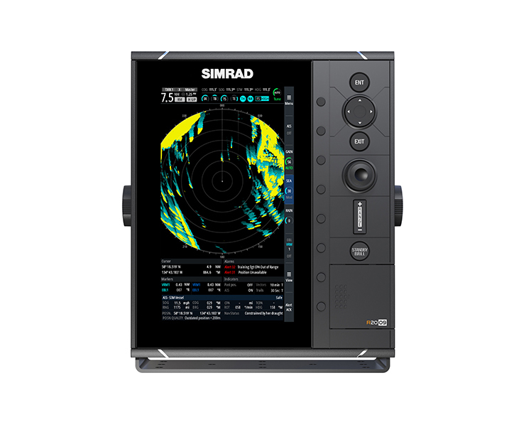 "Dedicated Simrad 9"" and 16"" radar display for the commercial market"